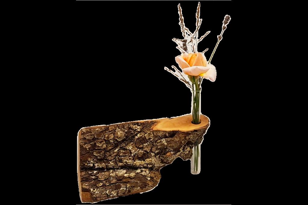 Holz dreieckig mit Vasenhalter